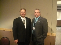 SUMA Convention in Regina with Creighton Mayor Bruce Fiddler - Click on Image to enlarge